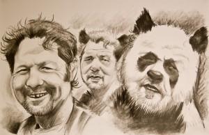 Pandas,par Heckel & Jeckel caricaturistes