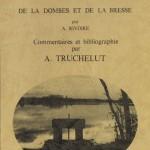 """Couverture du livre : """"Coutumes et usages des étangs de la Dombes et de la Bresse"""", de A. Rivoire, commenté par A. Truchelut"""