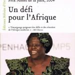"""Couverture du livre """"Un défi pour l'Afrique"""", de Wangari Maathai"""
